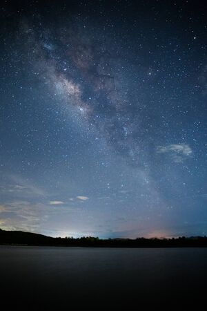 milky: Milky way with river