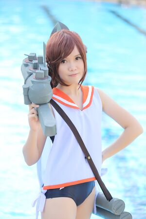cosplay: Asian girl cosplay with swimsuit