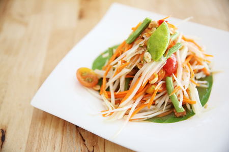 Thai local food Green papaya salad