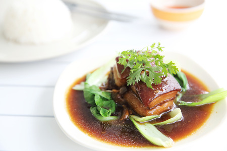 braised: braised pork belly in Japanese style
