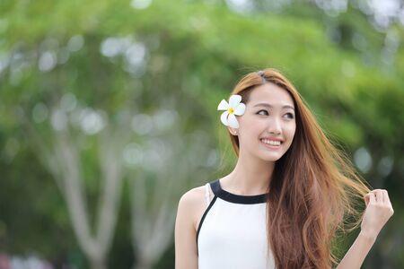 asian adult: Beautiful young woman