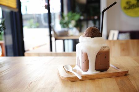 chocolate shake: chocolate milk shake with ice cream