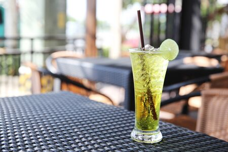carbonic: Melon soda witn lime Stock Photo