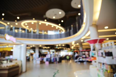 retail shopping: blurred image of shopping mall background