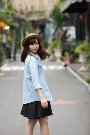 asia women: Asian girl in nature