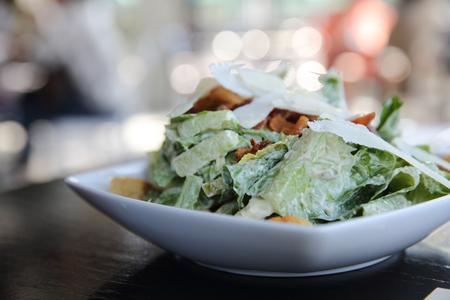 caesar salad: Caesar salad in close up