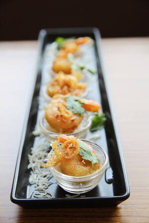 tamarindo: Camarones con salsa de tamarindo