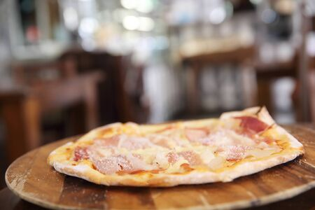 parma ham: Pizza with parma ham Stock Photo