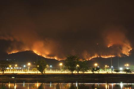 Verheerendes Feuer mit langen Shutterspeed Standard-Bild - 57144458