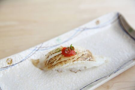 halibut: Grilled halibut sushi japanese food