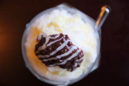 shave: Red beans with japanese shave ice
