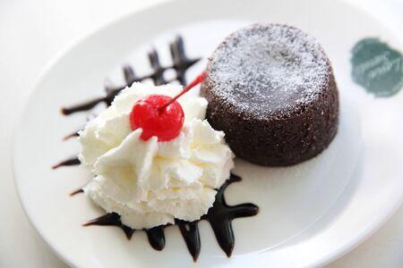 Chocolate Lava Cake with ice cream