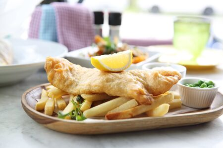 batters: Fish and chips Stock Photo