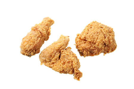 Fried Chicken isolated in white background