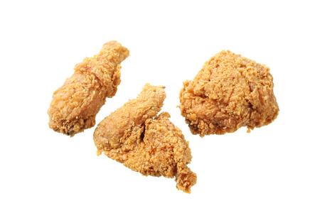 Gebratenes Huhn isoliert in weißem Hintergrund Standard-Bild - 81483446