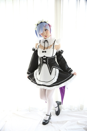 Japan anime cosplay girl in white tone