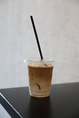 ice latte coffe in coffee shop