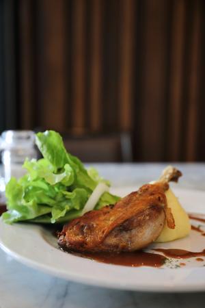 confit de canard , Duck confit with vegetable