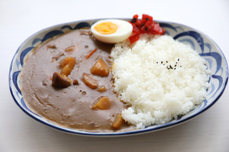 Curry rice with egg Japanese food