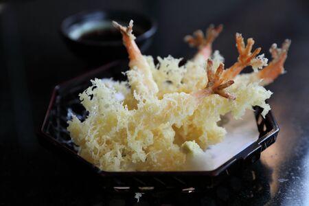 Tempura Fried shrimp Japanese style Stock Photo