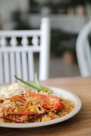 pad thai, Stir fry noodles and shrimp in thai style thai traditional food 写真素材
