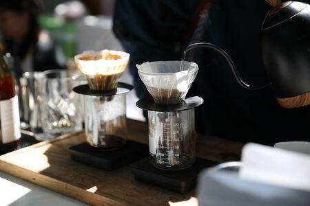 Drip coffee making drip espresso in vintage style