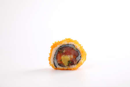 California roll isolated in white background