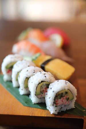 Maki rolls sushi japanese food