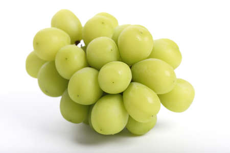 Green grape isolated in white background