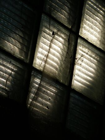 stilllife: dirty window in old building