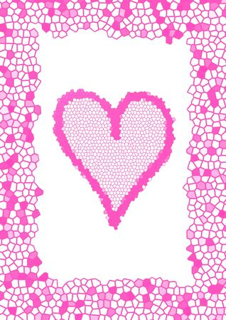 tessellation structure: frame with pink tesselated heart