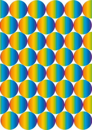 abstract retro background with round rainbow bubbles photo