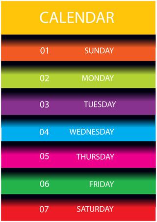 modern calendar page layout Vector