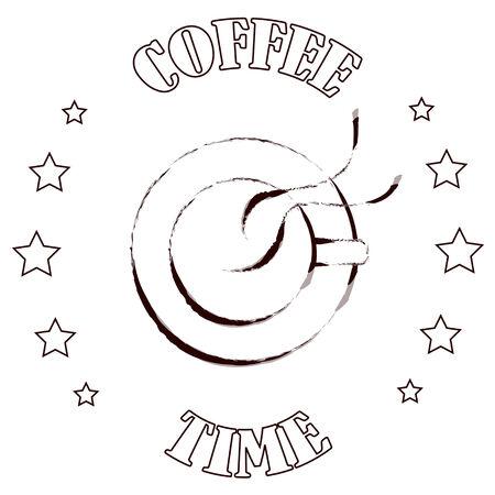 good break: Sello de la taza de caf�