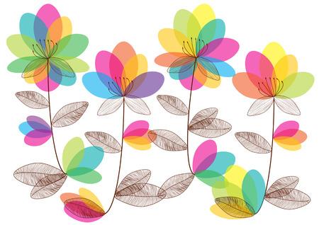 flowers background: flores coloridas vector de fondo