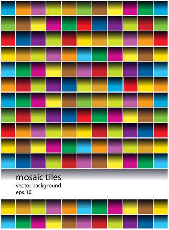 vector mosaic tiles background Vector