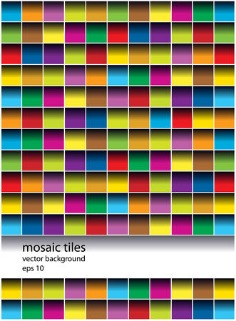 mosaic tiles: vector mosaic tiles background