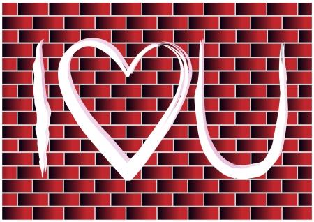 rectángulo: pared de ladrillo con el arte del graffiti
