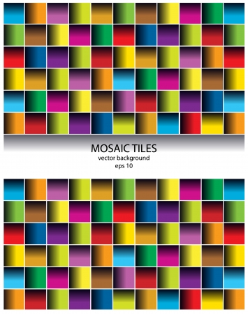 mosaic tiles: color vector mosaic tiles background with frame for text Illustration