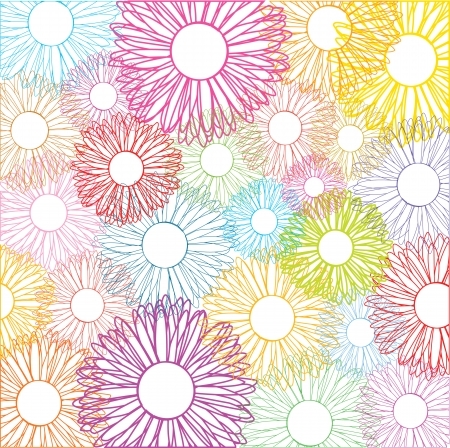 colorful vector floral background Vector