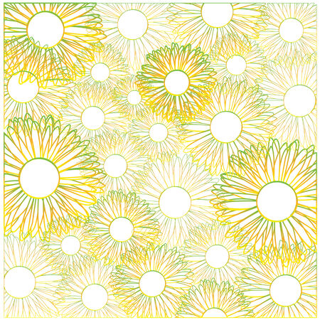 color vector flowers background Vector