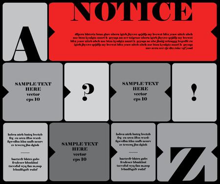 modern vector notice board