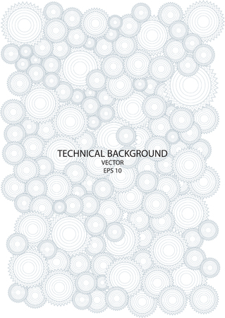 dibujo tecnico: dibujo técnico con ruedas dentadas Vectores