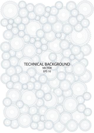 dibujo tecnico: dibujo t�cnico con ruedas dentadas Vectores