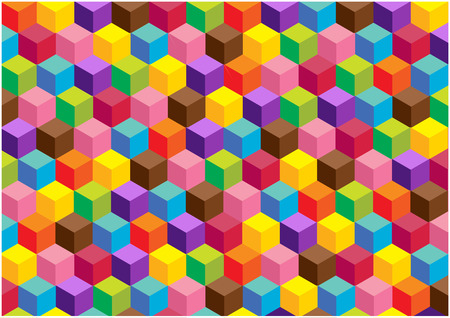 color vector background with 3D cubes Vector
