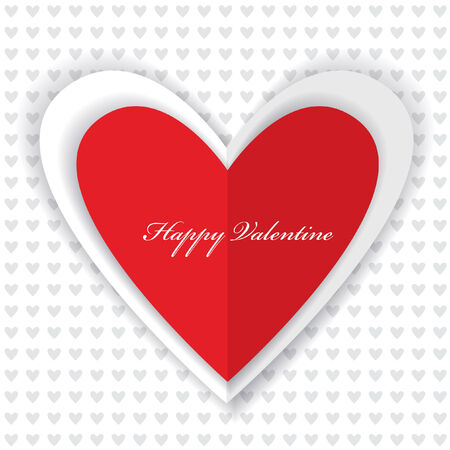 st valentin's day: valentine wallpaper design with paper heart and place for text