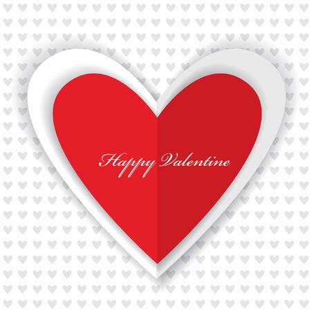 st valentins day: wallpaper design di San Valentino con cuore di carta e luogo per il testo