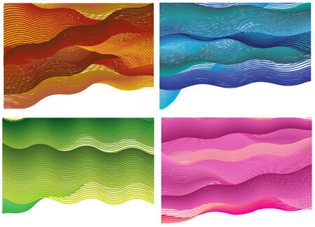 set of waves backgrounds Vector