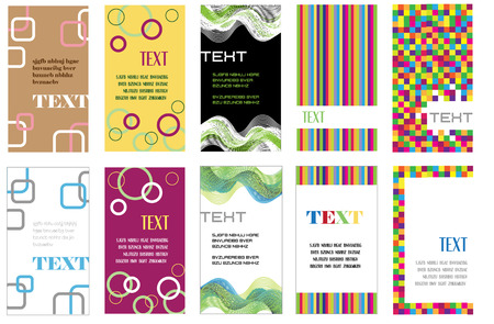 set of various business cards Vector