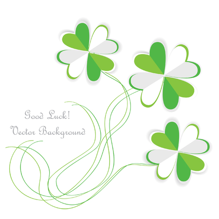 st valentin: paper clovers background with place for text